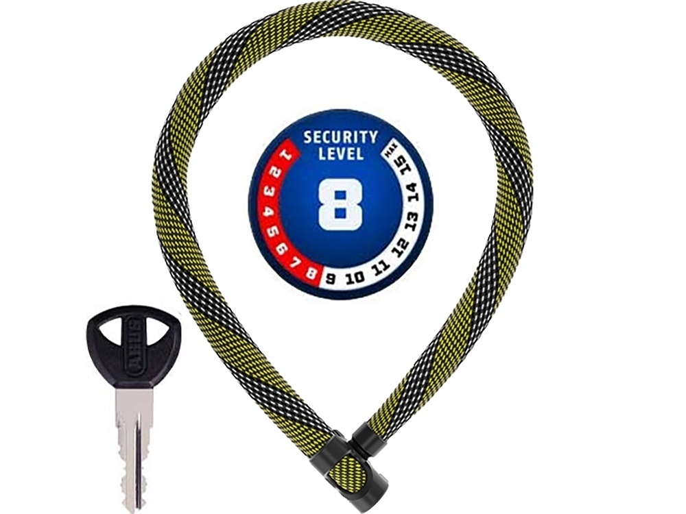 : Abus  Ivera Chain 7210 Color Kettenschloss (110 cm x 7mm racing gelb)