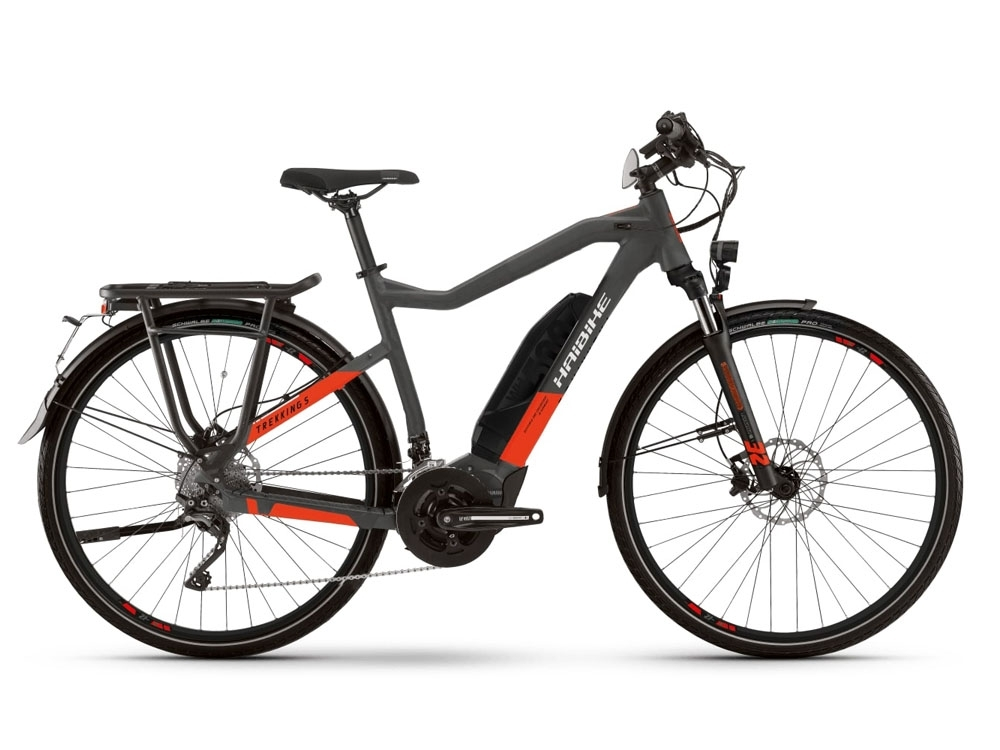 Haibike SDURO Trekking S 9.0 High 500 Wh E-Bike 28 anthrazit rot